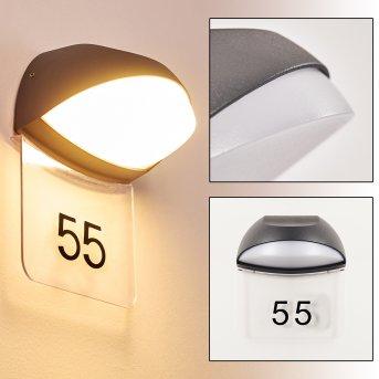 Tanguro Hausnummernleuchte LED Schwarz, 1-flammig