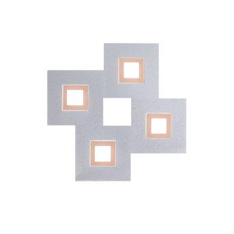 Grossmann KARREE Deckenleuchte LED Aluminium, Kupfer, 4-flammig