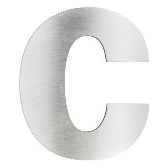 LCD Hausnummer c Edelstahl