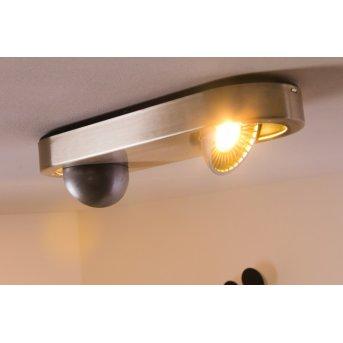 Granada Deckenleuchte LED Nickel-Matt, 2-flammig