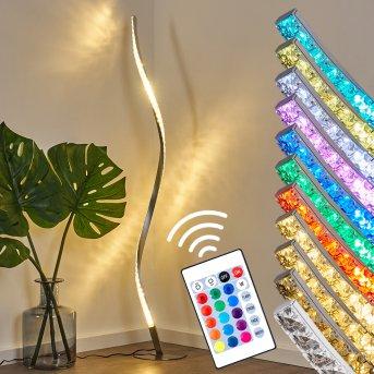 Saginaw Stehleuchte LED Nickel-Matt, 1-flammig, Fernbedienung, Farbwechsler