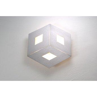 Bopp Leuchten BOX COMFORT Wandleuchte LED Silber, 3-flammig