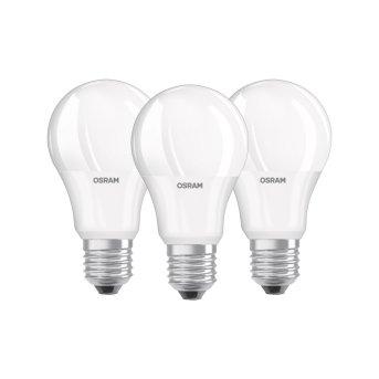 Osram LED 3er Pack E27 8,5 Watt 2700 Kelvin 806 Lumen