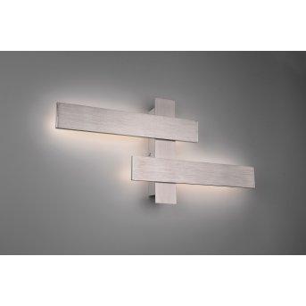 Trio Leuchten Belfast Wandleuchte LED Nickel-Matt, 2-flammig