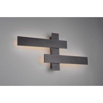 Trio Leuchten Belfast Wandleuchte LED Schwarz, 2-flammig