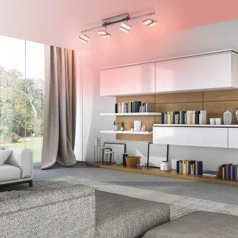 Leuchten Direkt LOLAsmart-SABI Deckenleuchte LED Nickel-Matt, 4-flammig, Fernbedienung, Farbwechsler