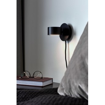 Nordlux CLYDE Wandleuchte LED Schwarz, 1-flammig