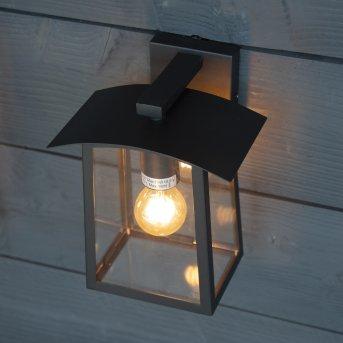 KS Verlichting Motto Außenwandleuchte Schwarz, 1-flammig