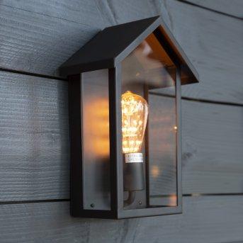 KS Verlichting Casa Außenwandleuchte Schwarz, 1-flammig
