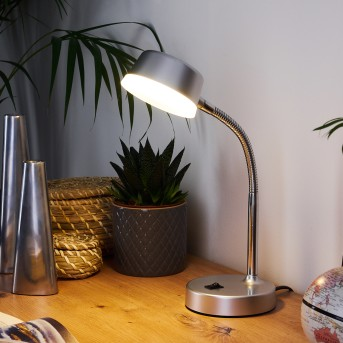Pineda Tischleuchte LED Chrom, 1-flammig