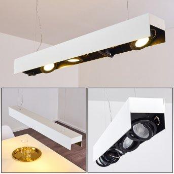 Bacoor Pendelleuchte LED Schwarz, Weiß, 5-flammig