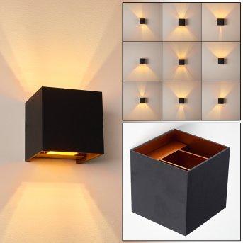 Badajoz Wandleuchte LED Schwarz, Kupfer, 1-flammig