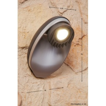 Lutec EGGO Außenwandleuchte LED Anthrazit, 3-flammig