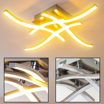 Nanaimo Deckenleuchte LED Nickel-Matt, 4-flammig
