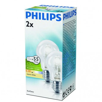 Philips Eco Classic 42 Watt, 630 Lumen 2800 Kelvin 2er Pack