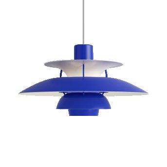 Louis Poulsen PH5 Pendelleuchte Weiß, Blau, 1-flammig