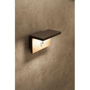 Mantra RUKA Außenwandleuchte LED Grau, 1-flammig, Bewegungsmelder