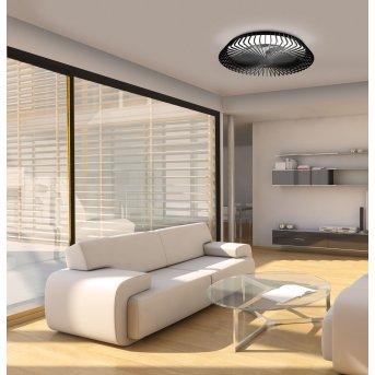 Mantra HIMALAYA Deckenventilator LED Schwarz, 1-flammig, Fernbedienung