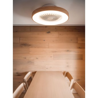 Mantra TIBET Deckenventilator LED Weiß, Holz dunkel, 1-flammig, Fernbedienung