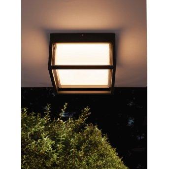 Mantra CHAMONIX Außendeckenleuchte LED Grau, 1-flammig