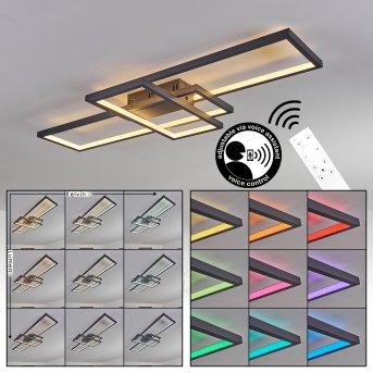 Momahaki Deckenleuchte LED Anthrazit, 1-flammig, Fernbedienung