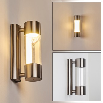 Caivano Außenwandleuchte LED Nickel-Matt, 1-flammig