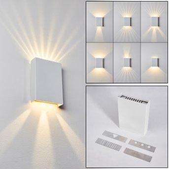 Benin Wandleuchte LED Weiß, 2-flammig