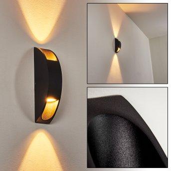Frattà Außenwandleuchte LED Schwarz, 1-flammig