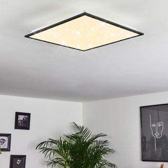 Salmi Deckenleuchte LED Schwarz, Weiß, 1-flammig