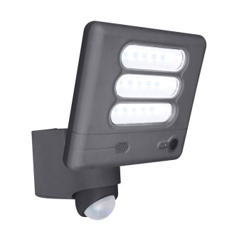 Lutec ESA CAM Aussenwandleuchte LED Anthrazit, 1-flammig, Bewegungsmelder
