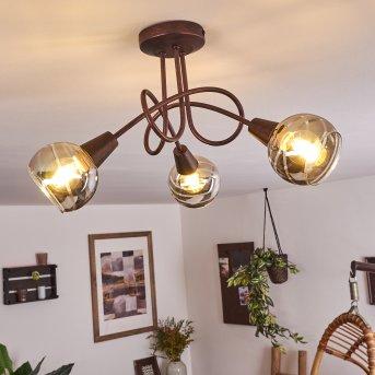 Warga Deckenleuchte LED Bronze, 3-flammig