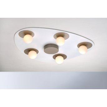 Bopp Leuchten PLANETS Deckenleuchte LED Braun, Weiß, 5-flammig