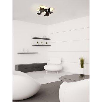 Bopp Leuchten REFLECTIONS Deckenleuchte LED Schwarz, Weiß, 4-flammig