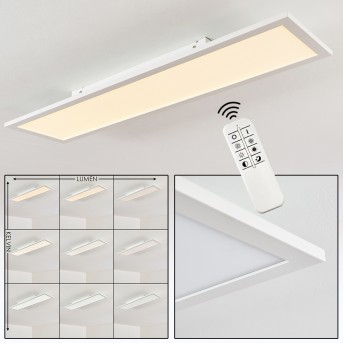 Salmi Deckenleuchte LED Weiß, 1-flammig, Fernbedienung