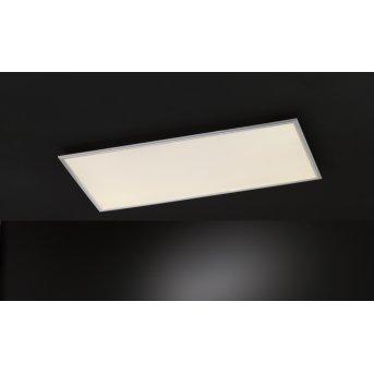 Wofi MILO Deckenleuchte LED Silber, 1-flammig, Fernbedienung, Farbwechsler