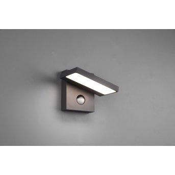 Trio Leuchten Horton Außenwandleuchte LED Anthrazit, 1-flammig, Bewegungsmelder