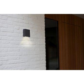 Lutec GEMINI Außenwandleuchte LED Anthrazit, 1-flammig