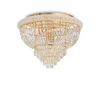 Ideallux DUBAI Deckenleuchte Gold, 24-flammig