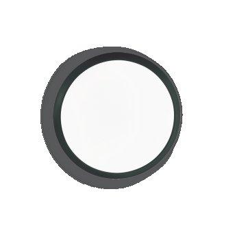 Ideallux GEMMA Deckenleuchte LED Schwarz, 1-flammig