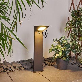 Matlava Wegeleuchte LED Anthrazit, 1-flammig, Bewegungsmelder