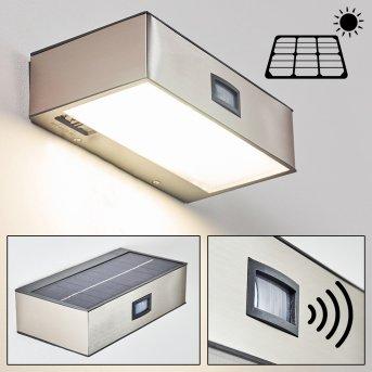 Attu Aussenwandleuchte Solar LED Nickel-Matt, 1-flammig