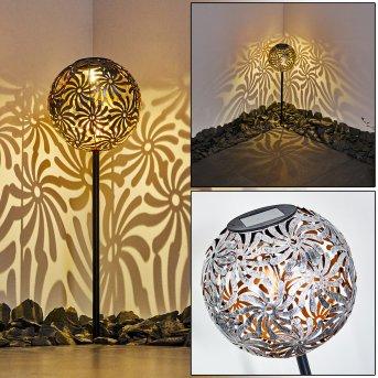 Gilbert Solarleuchte LED Silber, 1-flammig