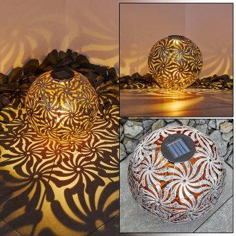 Gilbert Solarleuchte LED Silber, Gold, 1-flammig
