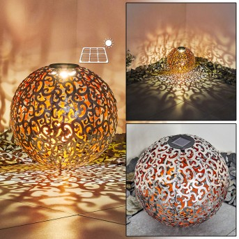 Paradiski Solarleuchte LED Silber, Kupfer, 1-flammig