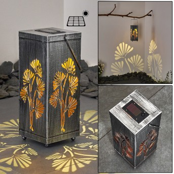 Parikia Solarleuchte LED Silber, Kupfer, 1-flammig