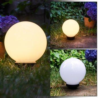 Campinas Solar-Kugelleuchte LED Schwarz, Weiß, 1-flammig