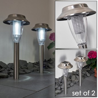 Rovigo Solarleuchte LED Nickel-Matt, 1-flammig