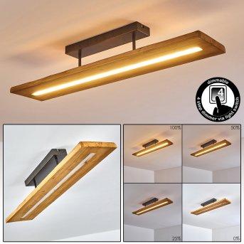 Adak Deckenleuchte LED Grau, 1-flammig