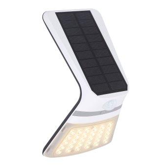 Globo Solar Außenwandleuchte LED Schwarz, 1-flammig, Bewegungsmelder