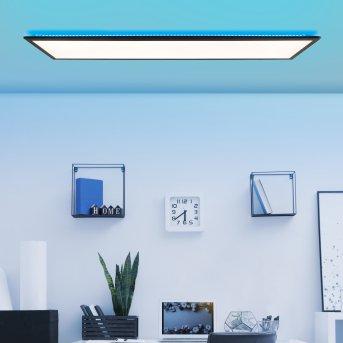 Brilliant Allie Deckenpanel LED Schwarz, 1-flammig, Fernbedienung